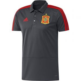 Spain Training Polo - Dark Grey