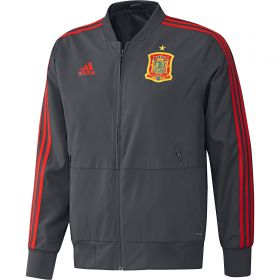 Spain Training Presentation Jacket - Dark Grey