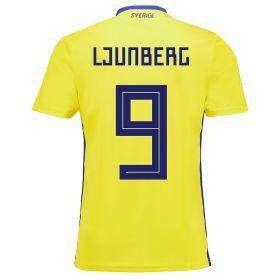 Sweden Home Legends Shirt 2018 with Ljungberg 9 printing