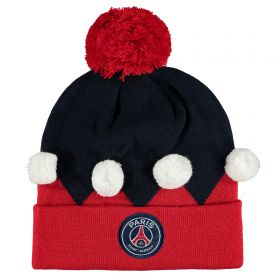 Paris Saint-Germain Elf Christmas Beanie - Navy/Red - Adult
