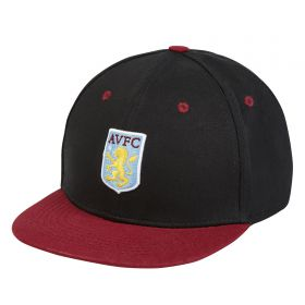 Aston Villa 3D Crest Snapback - Black - Junior