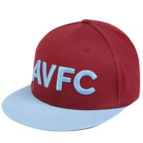 Aston Villa 3D Text Snapback - Claret - Adult