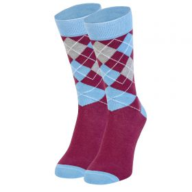 Aston Villa Argyle Socks - Claret - Mens