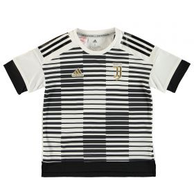 Juventus Home Pre Match Shirt - White - Kids