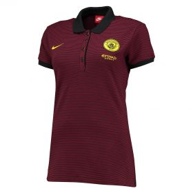 Manchester City Authentic Grand Slam Polo - Maroon - Womens