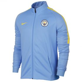 Manchester City Strike Aeroswift Track Jacket - Light Blue