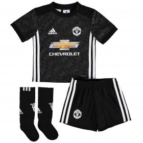 Manchester United Away Mini Kit 2017-18 with Bailly 3 printing