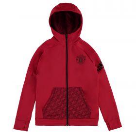 Manchester United Full Zip Hoody - Red - Kids