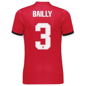 Manchester United Home Adi Zero Cup Shirt 2017-18 with Bailly 3 printing