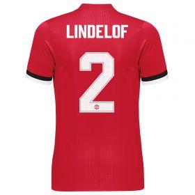 Manchester United Home Adi Zero Cup Shirt 2017-18 with Lindelof TBC printing