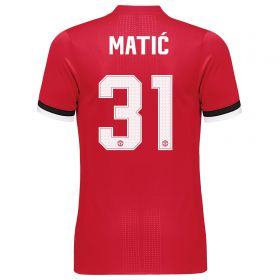 Manchester United Home Adi Zero Cup Shirt 2017-18 with Matic 31 printing