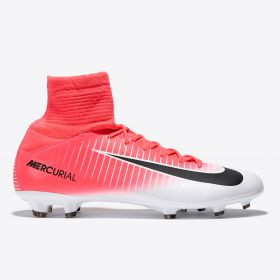 Nike Mercurial Superfly V Firm Ground Football Boots - Racer Pink/Black/White - Kids