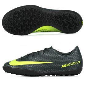 Nike Mercurial Vapor XI CR7 Astroturf Trainers - Seaweed/Volt/Hasta/White - Kids