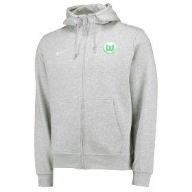 VfL Wolfsburg Full Zip Hoodie - Grey