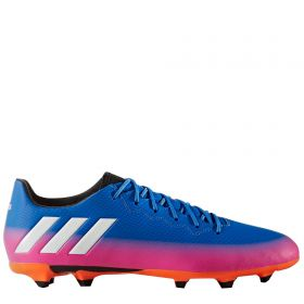 adidas Messi 16.3 Firm Ground Football Boots - Blue/White/Solar Orange