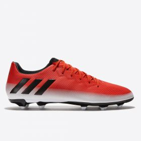 adidas Messi 16.3 Firm Ground Football Boots - Red/Core Black/White