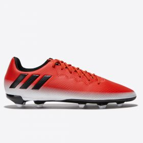 adidas Messi 16.3 Firm Ground Football Boots - Red/Core Black/White - Kids
