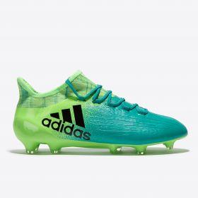 adidas X 16.1 Firm Ground Football Boots - Solar Green/Core Black/Core Green