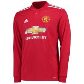 Manchester United Home Shirt 2017-18 - Kids - Long Sleeve with Lukaku 9 printing