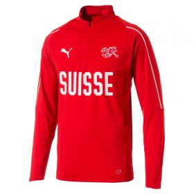 Switzerland Training 1/4 Zip Top - Red