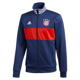 Bayern Munich 3 Stripe Track Top - Navy