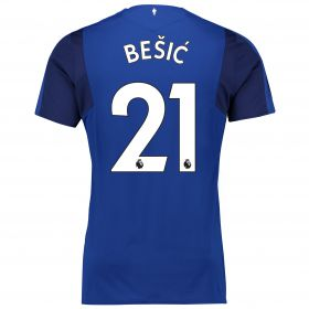 Everton Home Shirt 2017/18 - Junior with Bešic 21 printing