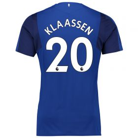 Everton Home Shirt 2017/18 - Junior with Klaassen TBC printing