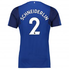 Everton Home Shirt 2017/18 - Junior with Schneiderlin 2 printing