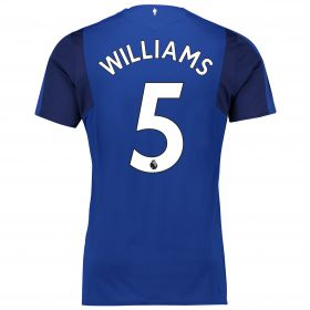 Everton Home Shirt 2017/18 - Junior with Williams 5 printing