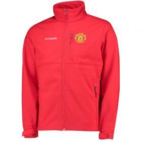 Manchester United Columbia Ascender Softshell Jacket - Cherrybomb - Mens
