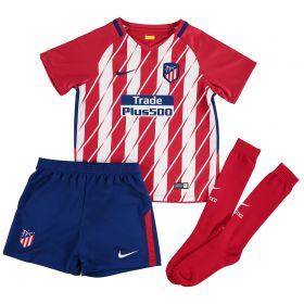 Atlético de Madrid Home Stadium Kit 2017-18 - Little Kids with Carrasco 10 printing
