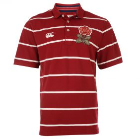 England 1871 Fine Stripe Polo Red