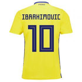 Sweden Home Legends Shirt 2018 with Ibrahimovic 10 printing