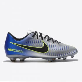 Nike Neymar Jr. Mercurial Vapor XI Firm Ground Football Boots - Chrome - Kids