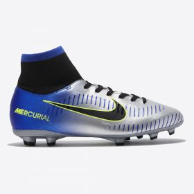 Nike Neymar Jr. Mercurial Victory VI Dynamic Fit Firm Ground Football Boots - Chrome - Kids