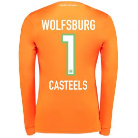 VfL Wolfsburg Goalkeeper Shirt 2017-18 - Kids with Casteels 1 printing