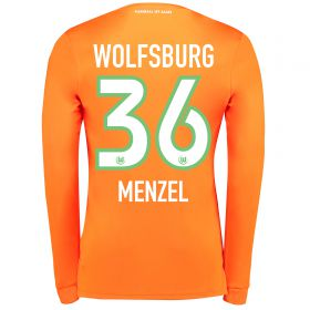 VfL Wolfsburg Goalkeeper Shirt 2017-18 - Kids with Menzel 36 printing