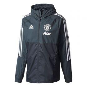 Manchester United Training Rain Jacket - Dark Grey
