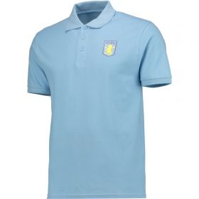 Aston Villa Classic Polo Shirt - Sky Blue - Mens