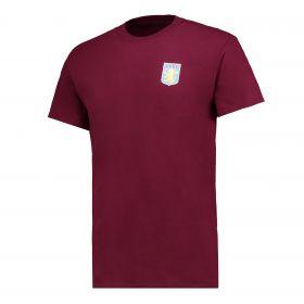 Aston Villa Classic T-Shirt - Claret - Mens