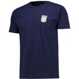 Aston Villa Classic T-Shirt - Navy - Mens