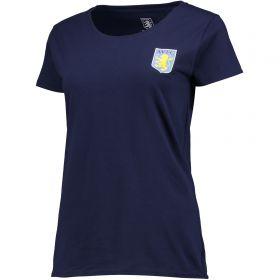 Aston Villa Classic T-Shirt - Navy - Womens