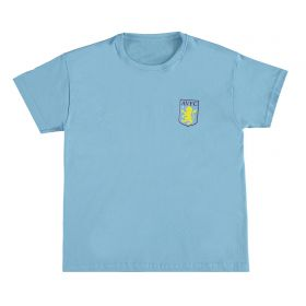 Aston Villa Classic T-Shirt - Sky Blue - Junior