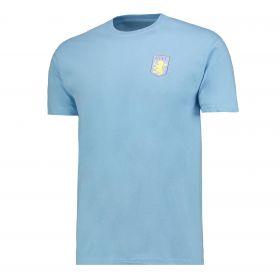 Aston Villa Classic T-Shirt - Sky Blue - Mens