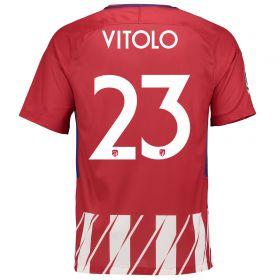 Atlético de Madrid Home Stadium Shirt 2017-18 - Kids Special Edition Metropolitano with Vitolo 23 printing
