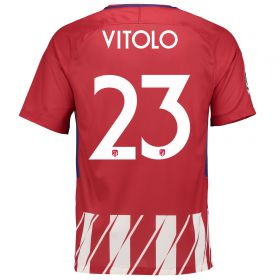 Atlético de Madrid Home Stadium Shirt 2017-18 Special Edition Metropolitano with Vitolo 23 printing