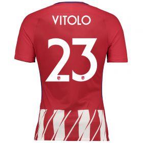 Atlético de Madrid Home Vapor Match Shirt 2017-18 Special Edition Metropolitano with Vitolo 23 printing