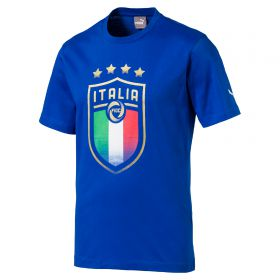 Italy Badge T-Shirt - Blue