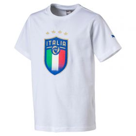 Italy Badge T-Shirt - White - Kids
