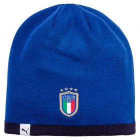 Italy Reversible Beanie - Blue